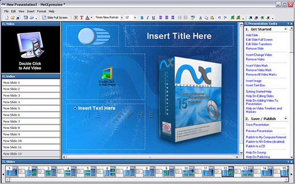 NetXpression makes it easy to get presentations online fast.